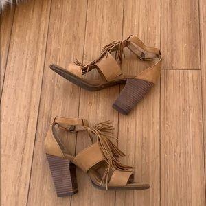 Lucky brand Leesha fringe heel